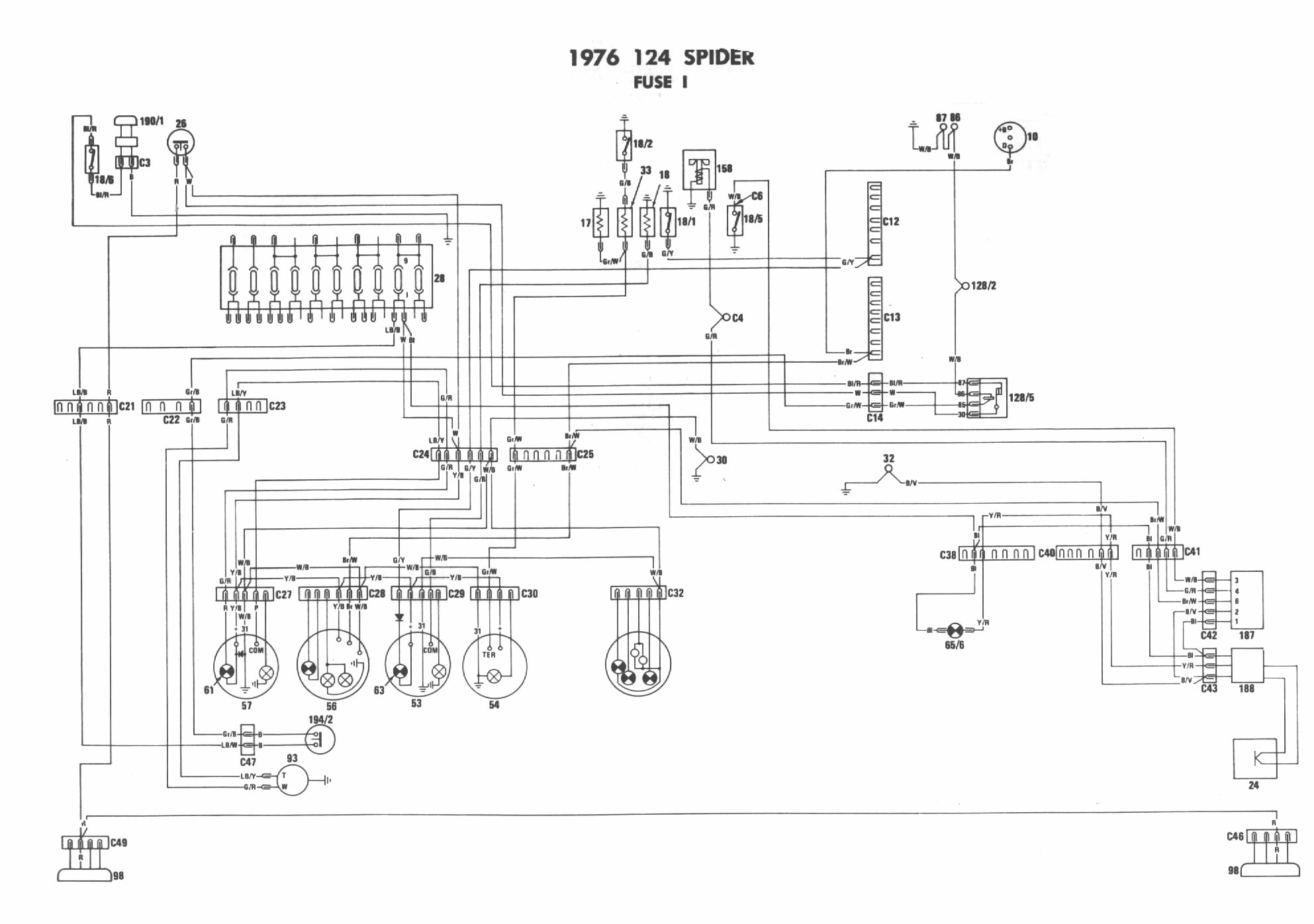1974 fiat 124 spider wiring diagram