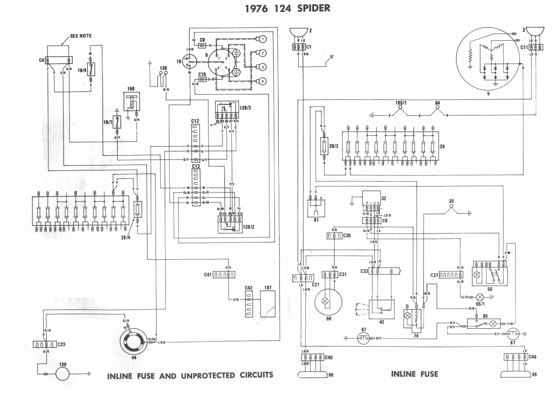 1976 fiat spider wiring diagram