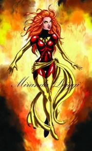 jean grey, marvel, comic, x-men, fire