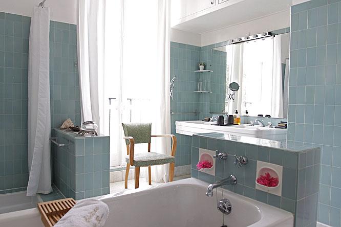 toilettes de Florence Bathrooms Pinterest - salle de bain gris et bleu