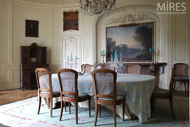 Salle à manger romantique sur terrasse C0723 Mires Paris