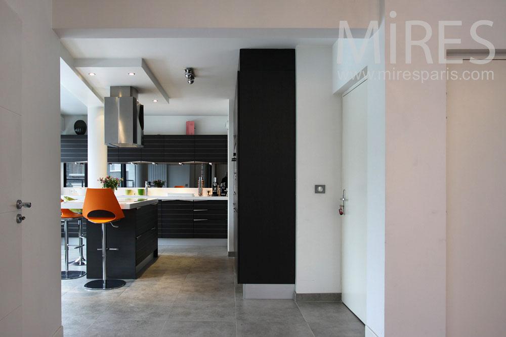 Cuisine moderne avec îlot central C0842 Mires Paris - Cuisine Moderne Avec Ilot