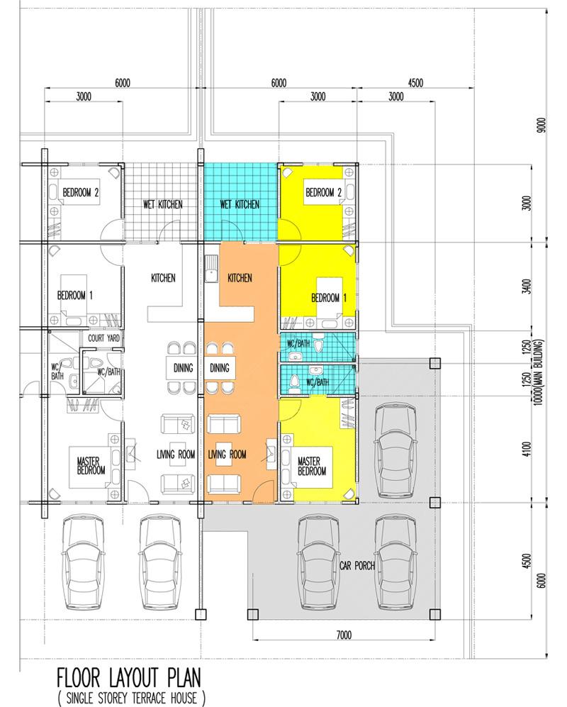 100 terraced house floor plan 100 house floor plans for Terrace 45 qc