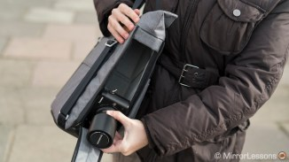 ... removing a flat-topped camera like the Lumix GX85.