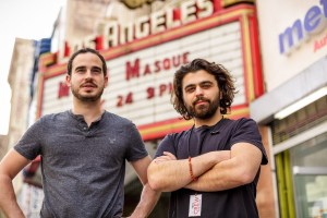 Alec Mouhibian at left with Garin Hovannisian at the Los Angeles Theatre