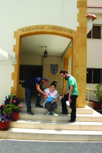 Students at Haigazian University