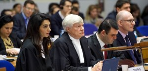 Amal Clooney and Geoffrey Robertson