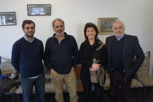 From left, Hayk Documentary Film Studio filmmakers Armen Harutyunyan, Samvel Papasyan, Shushanik Mirzakhanyan and Grigor Harutyunyan