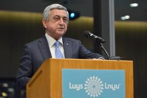 President Serge Sargisian (Ken Martin Photo)
