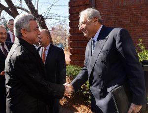 President Serge Sargisian with Aso Tavitian (Armenian Assembly Photo)