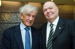 Elie Wiesel, left, with Prof. Richard Hovannisian