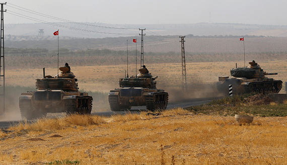 Turkish military shells 25 terrorist targets in northern Syria
