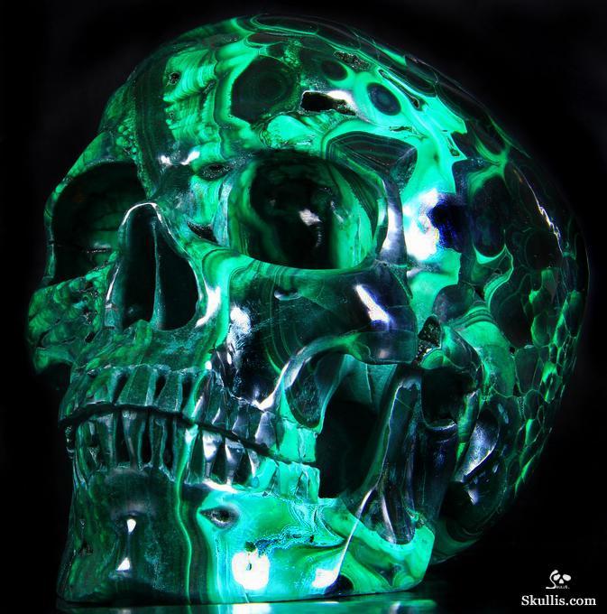 Wallpaper Skull 3d Calavera De Fuego Verde Imagui