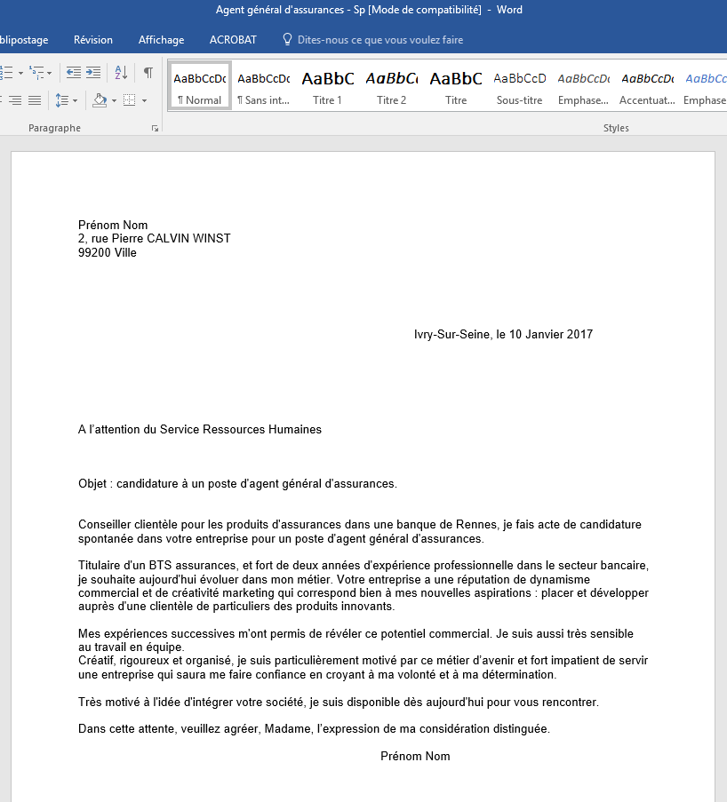 deposer cv lettre de motivation