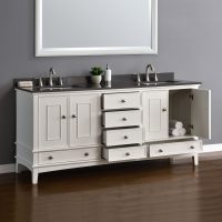 "Cambridge 72"" White Double Sink Vanity 