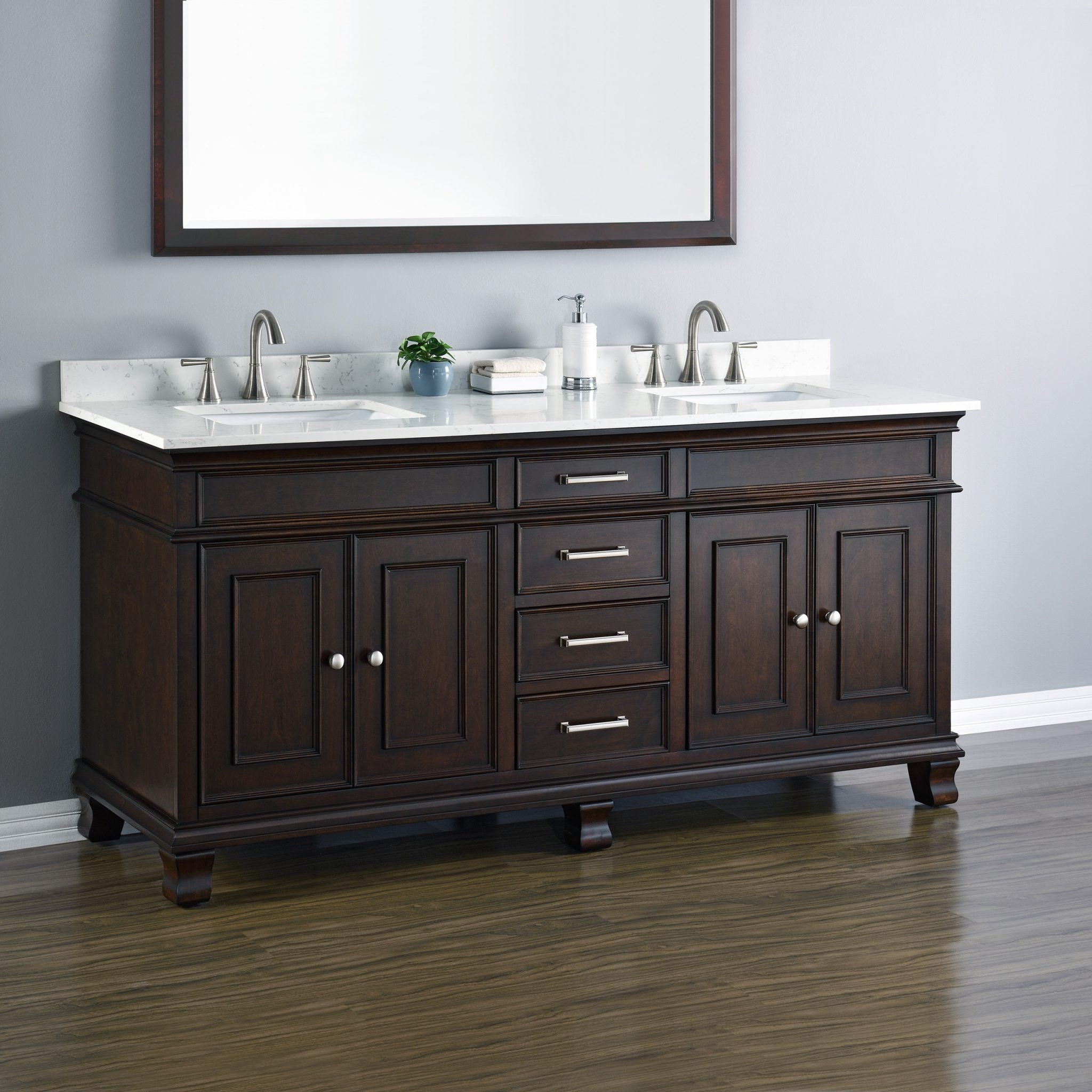Camden 72quot Double Sink Vanity Mission Hills Furniture