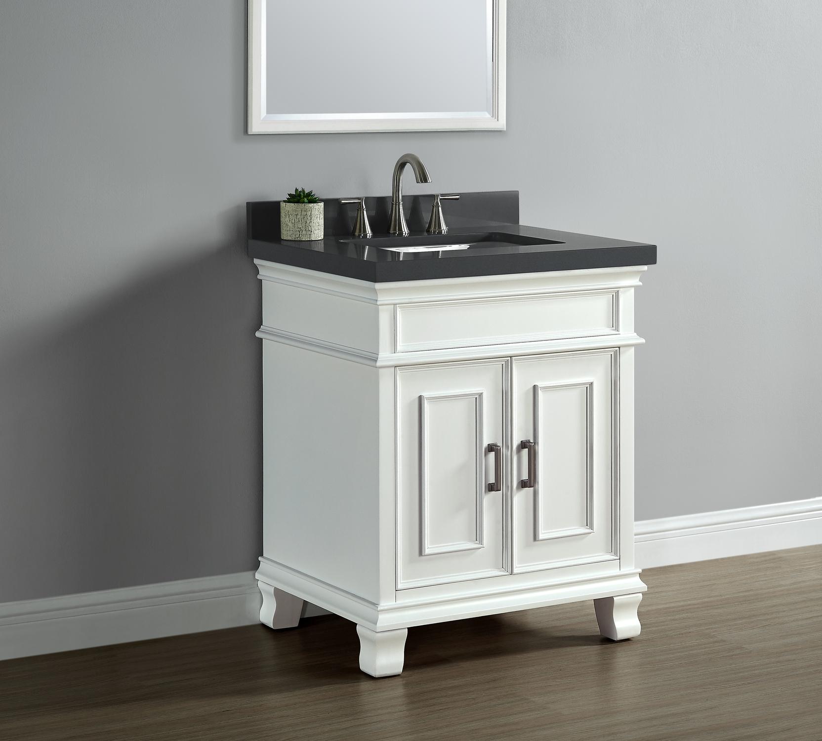 Middleton 28quot Single Sink Vanity White Mission Hills