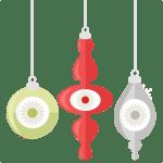 Christmas Ornaments SVG Cut Files