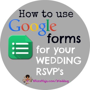 How Google Forms SAVED my life! Wedding RSVP's online!