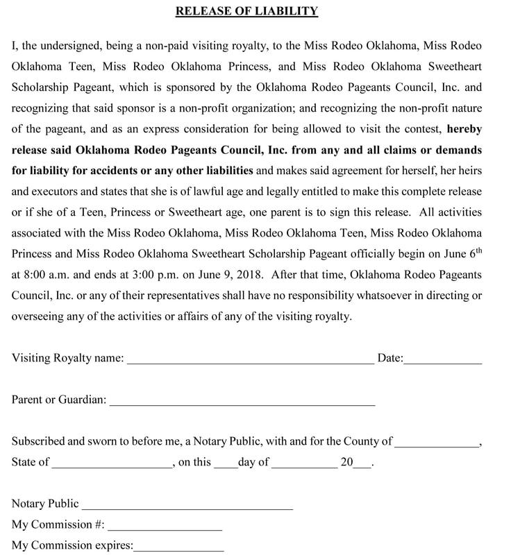 LIABILITY RELEASE FORM - liability release form