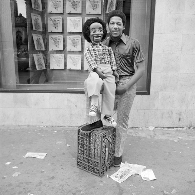 Street Ventriloquist, NY, NY, July 1979.
