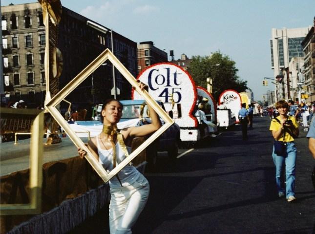 Art Is… (Line of Floats), 1983/2009 Chromogenic color print 16 × 20 in. Courtesy Alexander Gray Associates, New York
