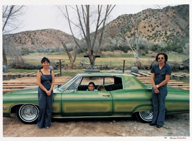 Photo: Meridel Rubenstein. The Medina Family, Bad Company, '68 Chevy Impala, Chimayó, New Mexico. 1980. Chromogenic print. Courtesy of the artist. © Meridel Rubenstein.