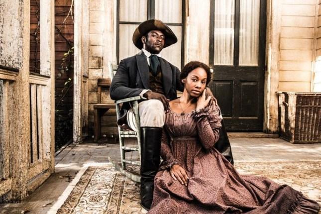 Photo: Michael James Shaw as Marcellus and Marcellus Anika Noni Rose as Kizzy. ©Kareem Black.