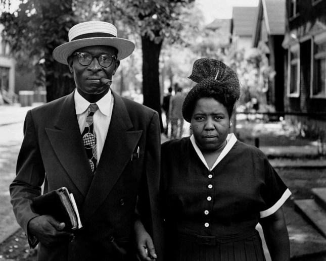 Gordon Parks (American, 1912-2006). Husband and Wife, Sunday Morning, Detroit, Michigan, 1950. Gelatin silver print, 11 x 14 in. Museum of Fine Arts, Boston; Gift of The Gordon Parks Foundation
