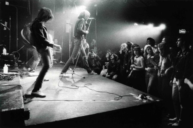 Photo: The Ramones, CBBG, 1977. ©Godlis, courtesy of agnès b. galerie, New York.