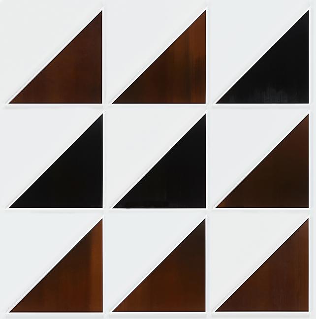 LIZ DESCHENES, Untitled (LeWitt) #6–14, 2016, Photogram, 122 1/2 x 122 7/8 x 1 3/4 inches