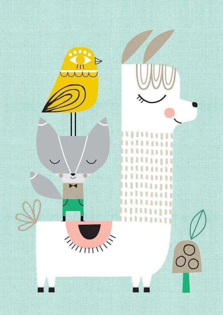 Cute Llama Wallpaper Desktop Poster Babykamer Bekijk De Schattige En Eigenwijze