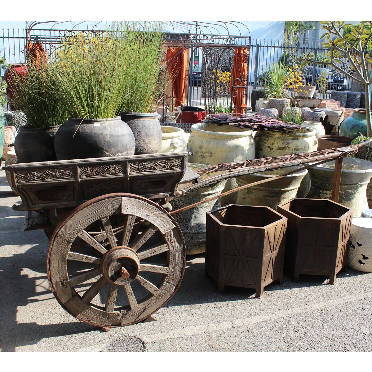 antique indian ox cart furniture