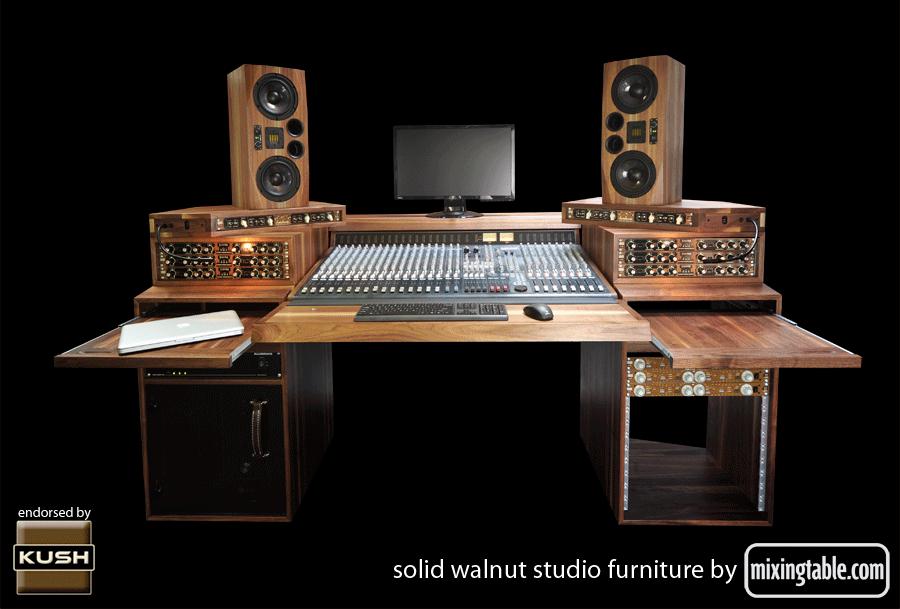 19 Inch Walnut Racks For Audio Gear By Mixingtablecom