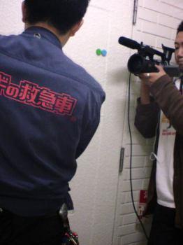 家の鍵を紛失、業者さんと一緒に密着TV取材も来ました(笑)