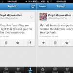 Floyd Mayweather reta a Paquiao, en Twitter.