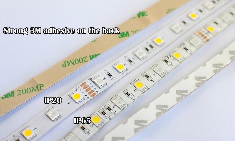 12V 24V RGBW RGBWW Led Strip Lights 5050 60LEDs/M mjjcled