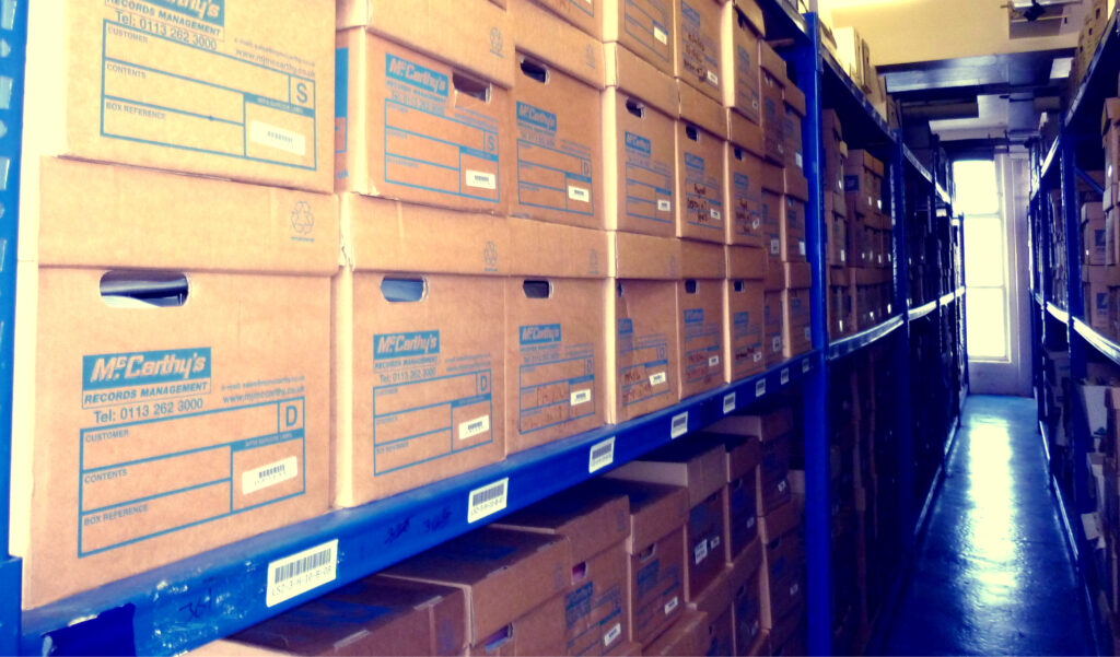 Archive Boxes On Racking