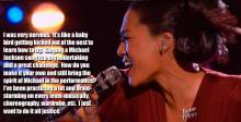 Judith Hill's heartfelt words