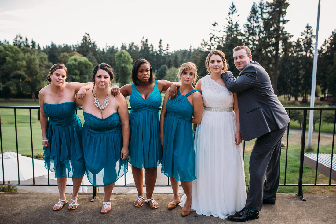 Bridesmaid Photo Reenactment Funny Bridal Party Photos In Seattle