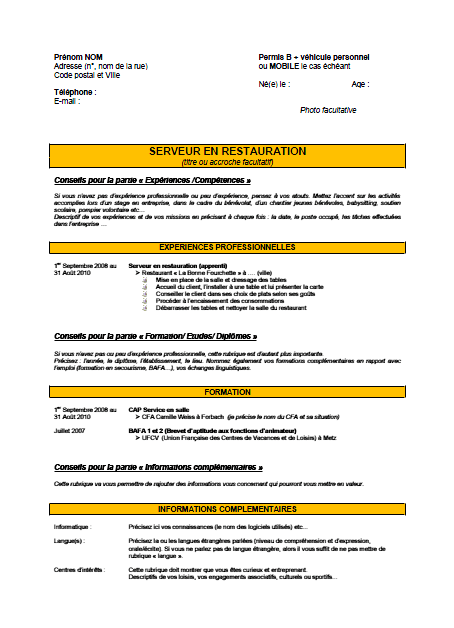 pole emploi cv apprentissage