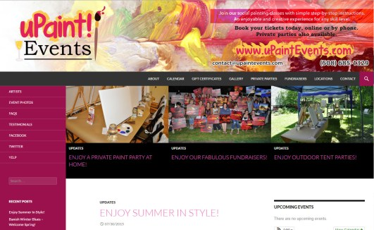 uPaint Events Website