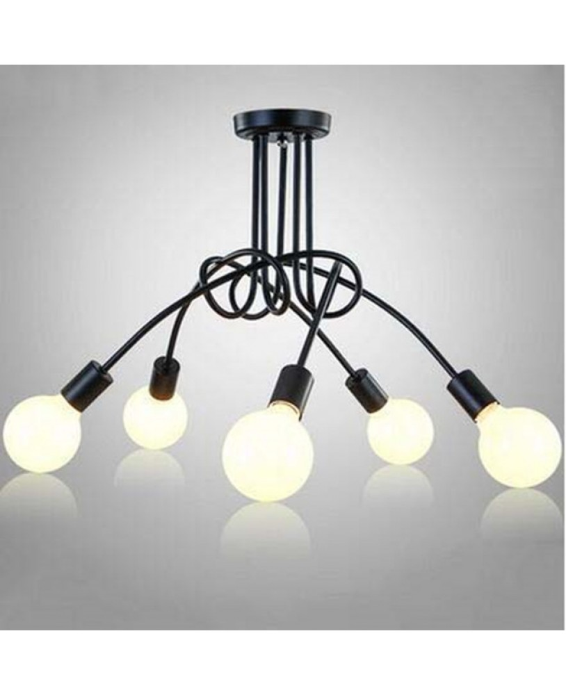 Modern Led Ceiling Lights Fixture E27 5 lamp holder Home