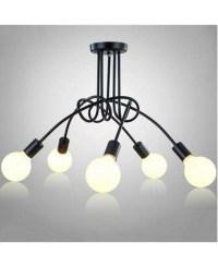 Modern Led Ceiling Lights Fixture E27 5 lamp holder Home ...