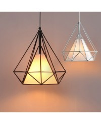 Art Iron Diamond Pendant Lights Birdcage Ceiling Pendant ...