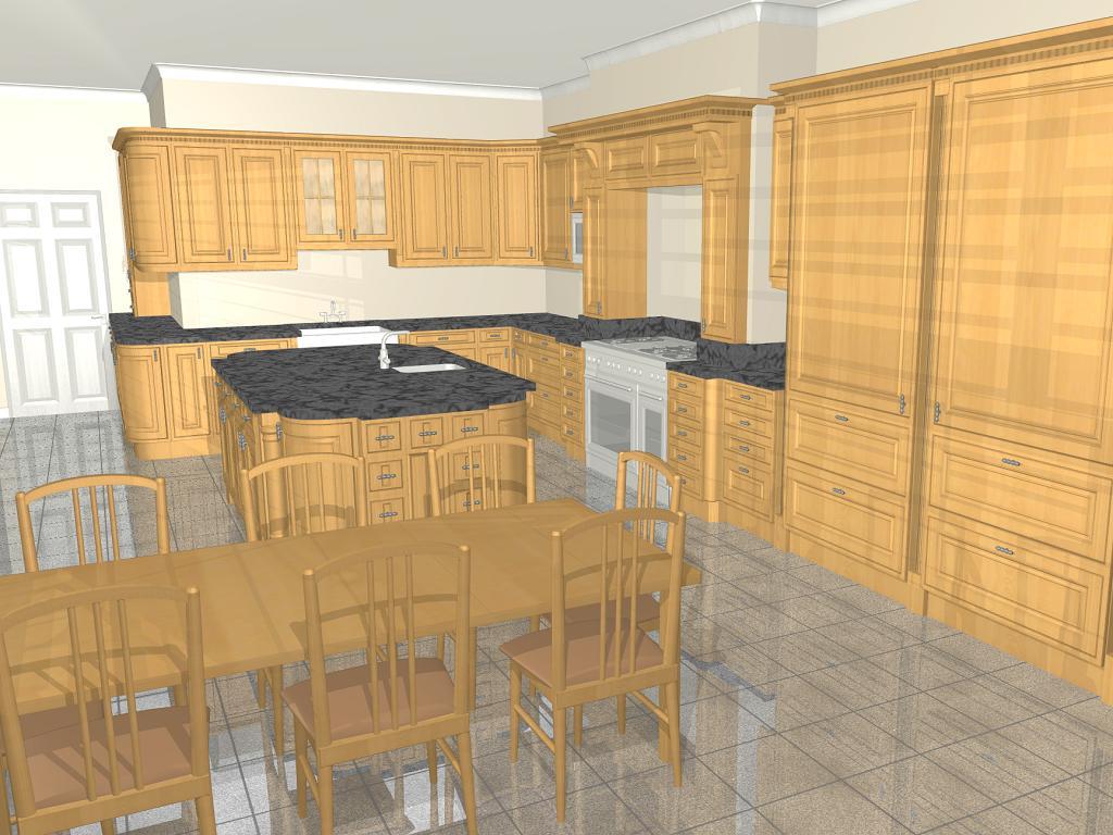 Kitchen gallery image glass peninsula