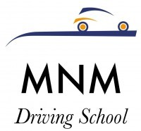 mnm driving school logo