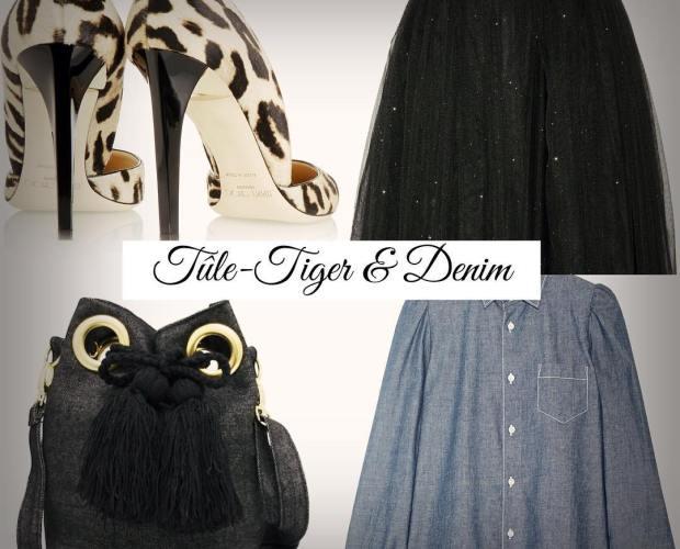 My favorite LOOK today! #tule #tigerprint #etoileisabelmarant #jimmychoo #ryanlo #jeansbucket #Hippiejeans by me