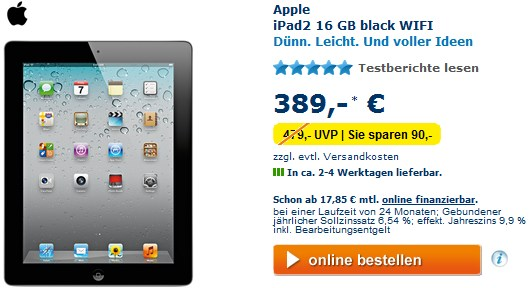 euronics ipad 2 16 gb wifi