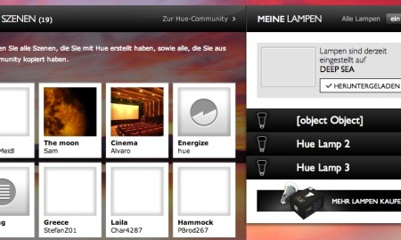 Philips hue webinterface